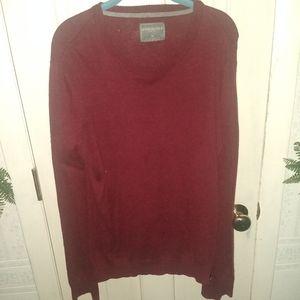 Aeropostale Knit Maroon Lightweight Sweater -Large